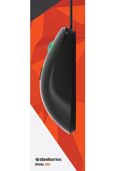 SteelSeries Rival 105 Pixart Optik Sensör 4000 CPI Omron Switch RGB Aydınlatmalı Oyuncu Mouse