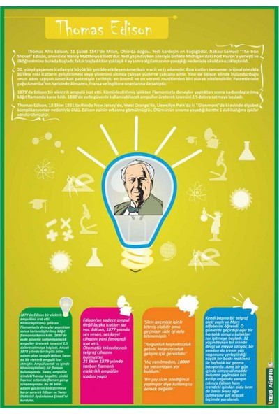 Sınıf Sepeti Thomas Edison Posteri