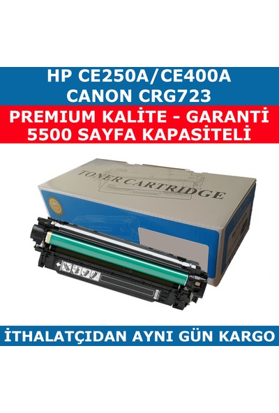 Renkli Toner Hp 504A-Ce250A 5.500 Siyah Muadil Toner 507A-Ce400A-Crg723