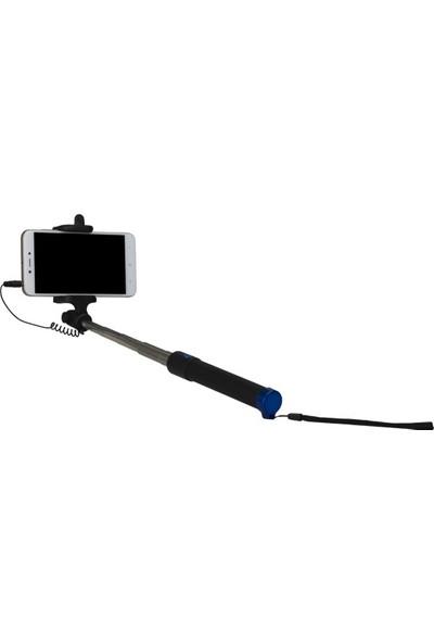 Syrox Kablolu Selfie Özçekim Çubuğu 80 Cm
