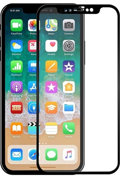 Soffany Apple iPhone X 5D Kavisli Ekran Koruyucu