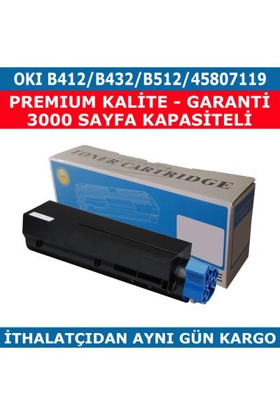 Renkli Toner Okı B412-B432-B512-45807119 Muadil Toner 3.000