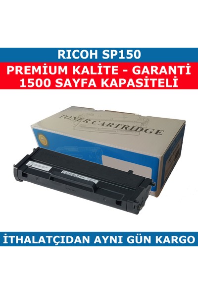 Renkli Toner Rıcoh Sp150 Muadil Toner 1.500