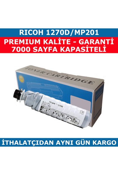 Renkli Toner Rıcoh 1270D-Mp201 Muadil Toner 7.000