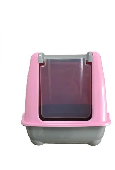 Cado Pet Kapalı Kedi Tuvaleti Pembe