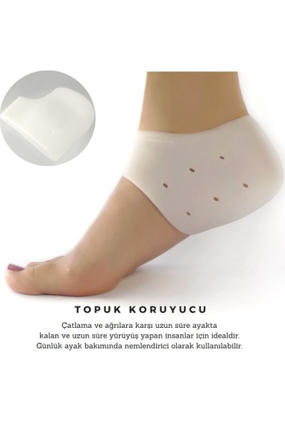 Medifoot Silikon Topuk Koruyucu Çorap