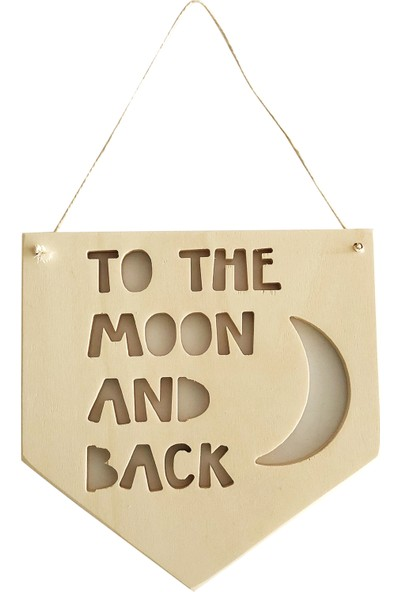 Altuka Octans Ahşap Flama To The Moon And Back