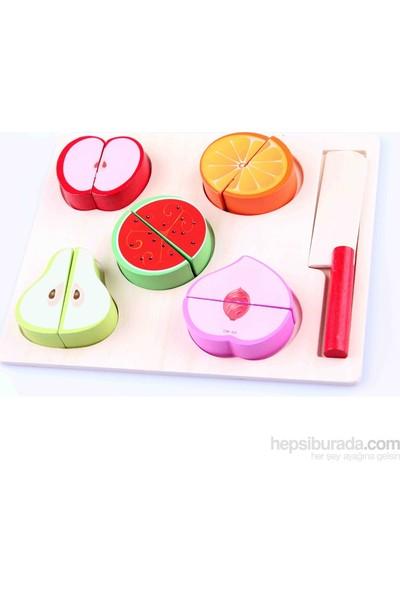 Montessori Ahşap Meyve Tabağı