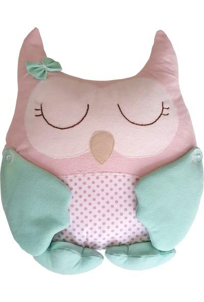 Pudra Decor Baykuş Yastık Mint Pembe