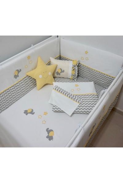 Pudra Decor Sarı Yıldız Yastık