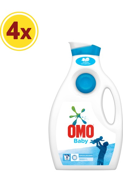 Omo Baby Sıvı Çamaşır Deterjanı 4 x 30 Yıkama