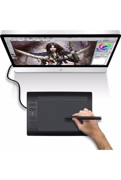 Huion New 1060 Plus 10 X 6.25 Inches Graphics Drawing Pen Tablet
