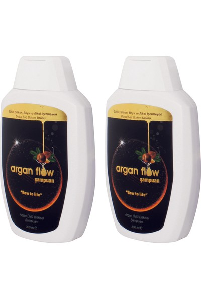 Argan Flow Şampuan Saç Dökülmesi Karşıtı 300 Ml 2 Adet Skt2020