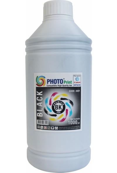 Photo Print Canon G1400 - G2400 - G3400- Gı 490 Yazıcılar İçin Uyumlu 1000 ml Siyah Mürekkep