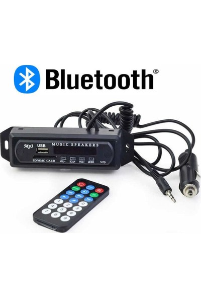 Audiomax Aux-Usb-Sd Kart Bluetoothlu Teyp Çevirici-Kumandalıdır-Tak Kullan