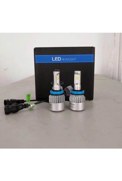 Led Headlight H3 Led Xenon --8000 Lümen/6500 Kelvin (Şimşek Etkili)