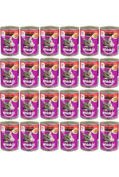 Whiskas Biftekli Konserve Kedi Maması 400 Gr x 24 Adet