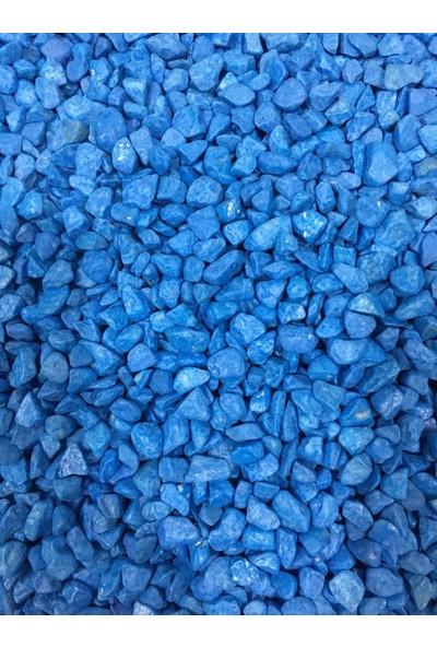 Woddy Akvaryum İçin Çakıl Taşı 1 Kg Mavi