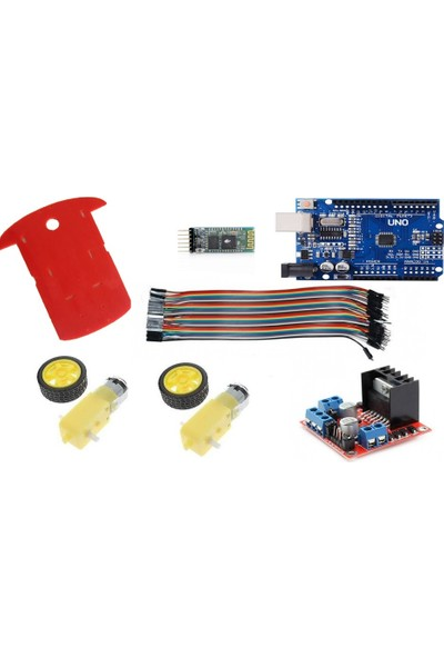 Maker Arduino Bluetooth Kontrollü 4 Çeker Araba