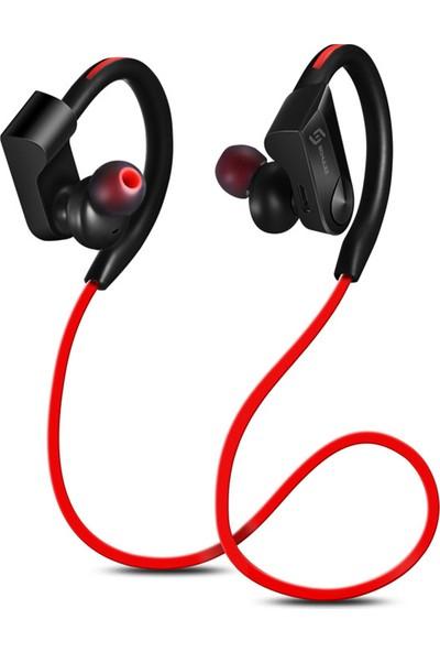 Schulzz K98 Sport Handsfree Kablosuz Bluetooth Mikrofon Kulaklık Kırmızı