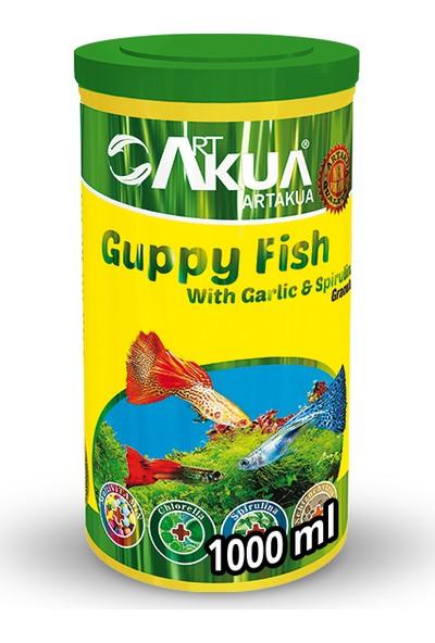 Art Aqua Guppy Fish With Spirulina & Garlic 400 Gr