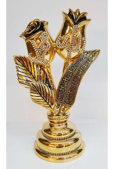 Oyks Polyester Gül Model Lafız Gold Renk