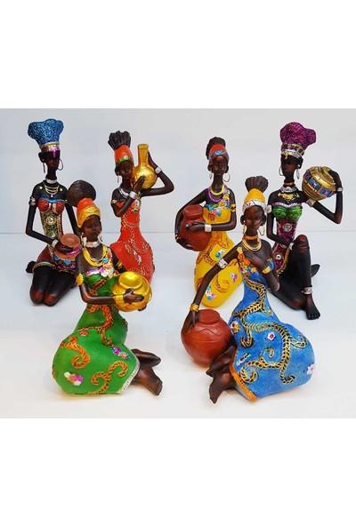 Oyks Afrikalı Kız Biblo 1 Adet 16 cm