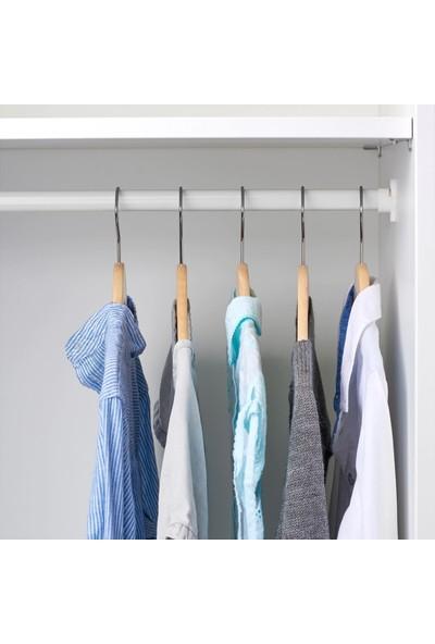 İkea Hanga Masif Ahşap Çocuk Askı - Elbise Giysi Kıyafet Dolap Askısı - 5 Adet Natural Renkte