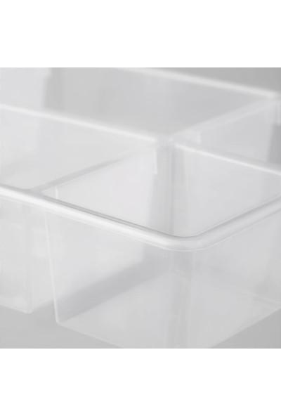 İkea Antonıous Sepet Dolap Raf İçi Şeffaf Plastik Düzenleyici
