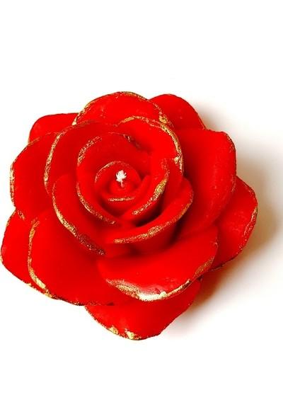 Merland Çilek Kokulu Kırmızı Renkli Gül Mum