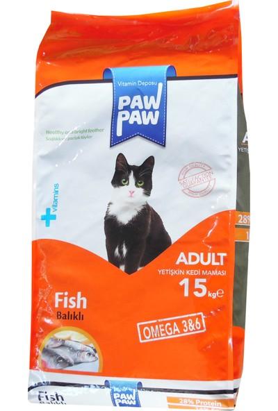 Pawpaw Balıklı Yetişkin Kedi Maması 15 Kg