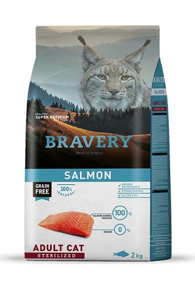 Bravery Yetişkin Kısırlaştırılmış Kedi Maması Somon Balıklı 2Kg. - Adult Cat Sterılızed 2Kg.
