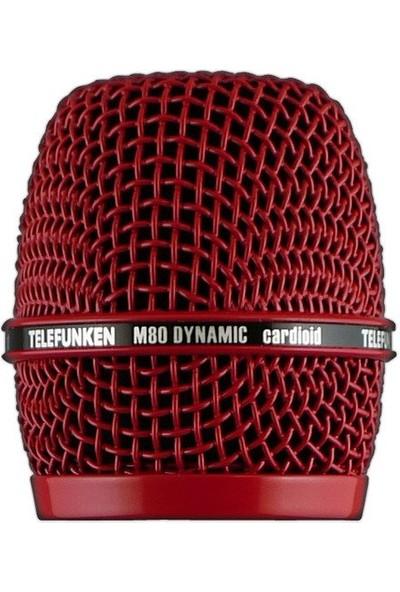 Telefunken HD03-RED Telefunken M80 Dinamik Mikrofon İçin Kafa Izgarası