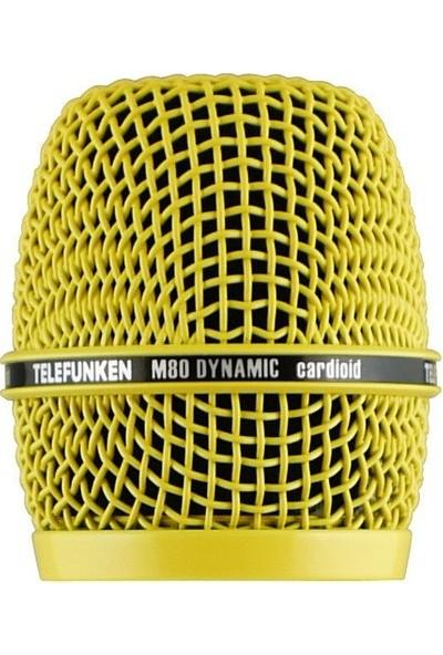 Telefunken HD03-YLW Telefunken M80 Dinamik Mikrofon İçin Kafa Izgarası