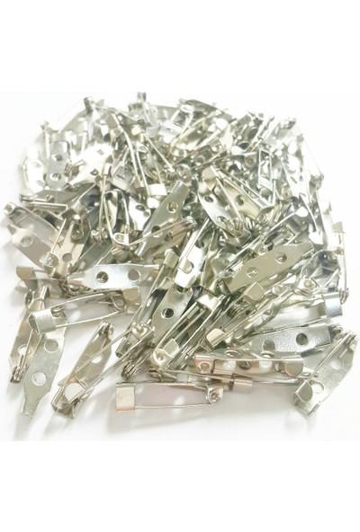 Byozras Metal Broş İğnesi Yaka İğnesi Alt Aparat 50 li Paket