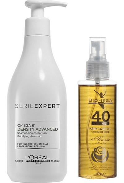 Loreal Density Advanced Şampuan 500 ml + 40 Bitki Saç Yağı
