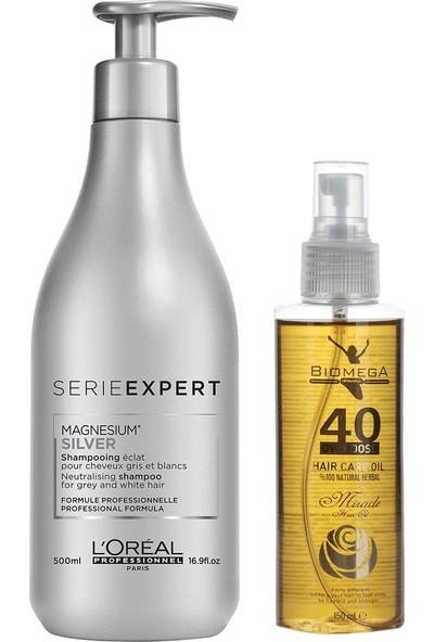 Loreal Silver Şampuan 500 ml + 40 Bitki Saç Yağı