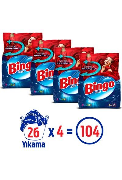 Bingo Renkli 4kg Toz Ekonomi Paketi 4'lü