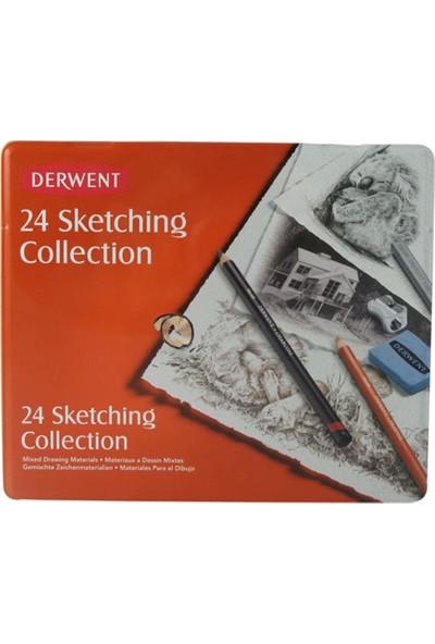 Derwent Sketching Collection 24'Lü Teneke Kutu
