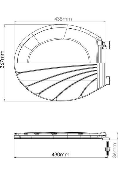 Rona Shell Thermoplast Standart Klozet Kapağı-Beyaz