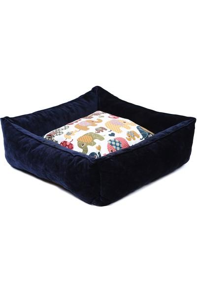 Petista Fil Desenli Kedi-Köpek Yatağı 55X55
