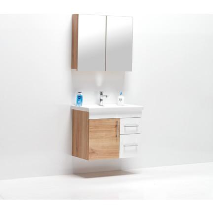 Hepsi Home Saydam Primera 80 Cm Mdf Banyo Dolabi Mese Beyaz