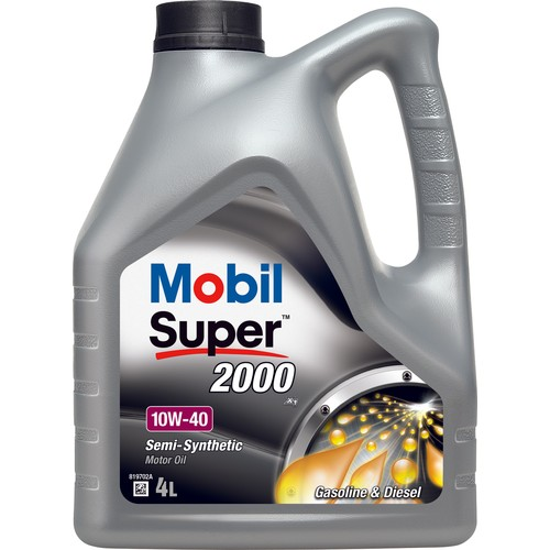 Mobil Süper 2000 X1 10W-40 4lt Benzin ve Dizel Motor Yağı ( Üretim Yılı : 2018 )