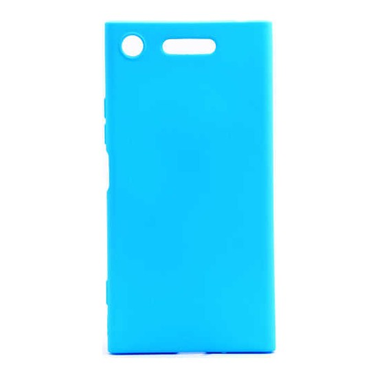 Evastore Sony Xperi XZ1 Kılıf Zore Premier Silikon - Mavi