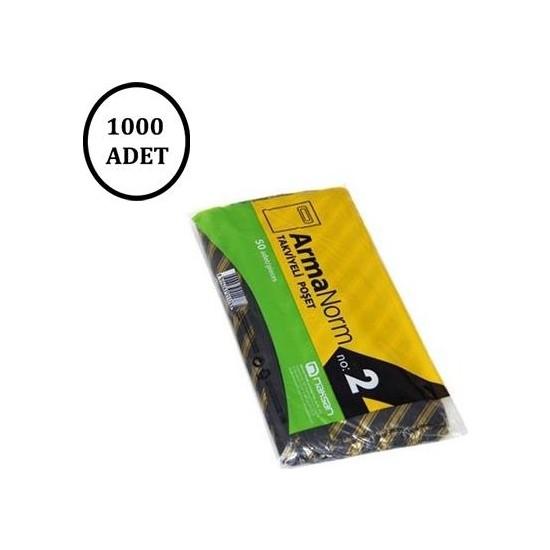 Naksan Takviyeli Siyah Çizgili Poşet 26 X 38 No.2 (1000' li)