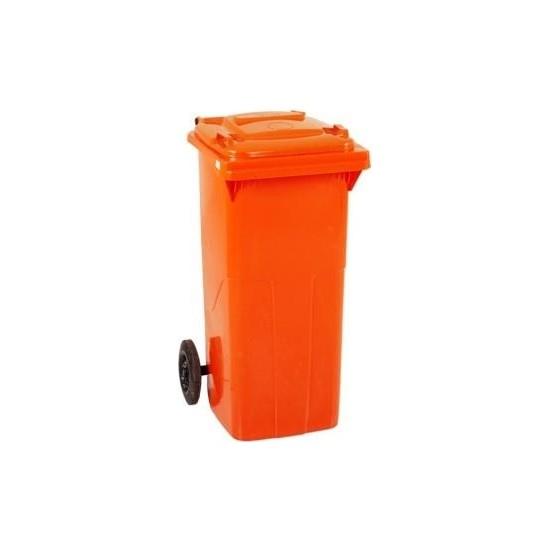 Plastico 120 Lt Turuncu Çöp Konteyneri