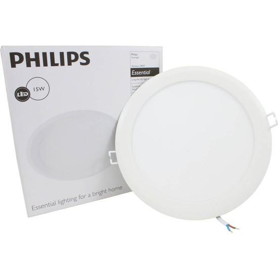 Philips Downlight 15W Essential Yuvarlak Led Spot Panel 8'' Beyaz Işık