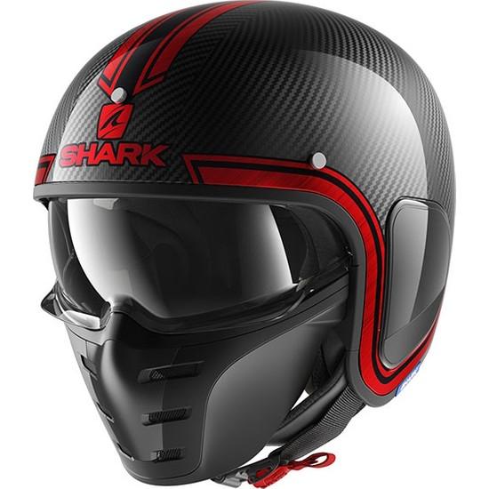 Shark S-Drak Carbon Vinta Kask | Kırmızı