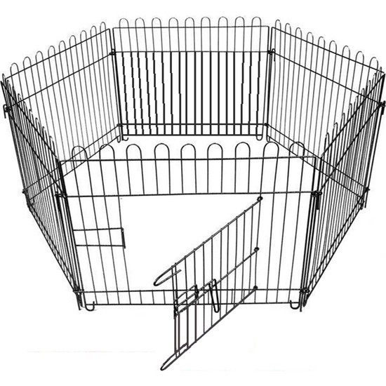 Best Cage Metal 63X63 Cm Altı Parça Köpek Oyun Alanı