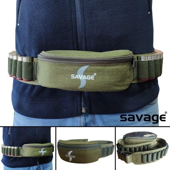 Savage Hh06067 Fişeklikli Bel Çantası Haki